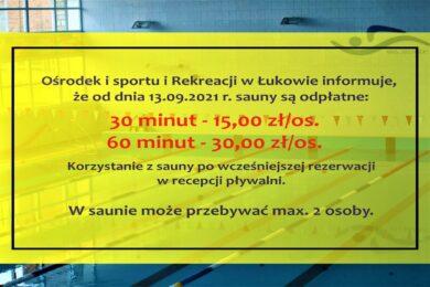 informacja sauny